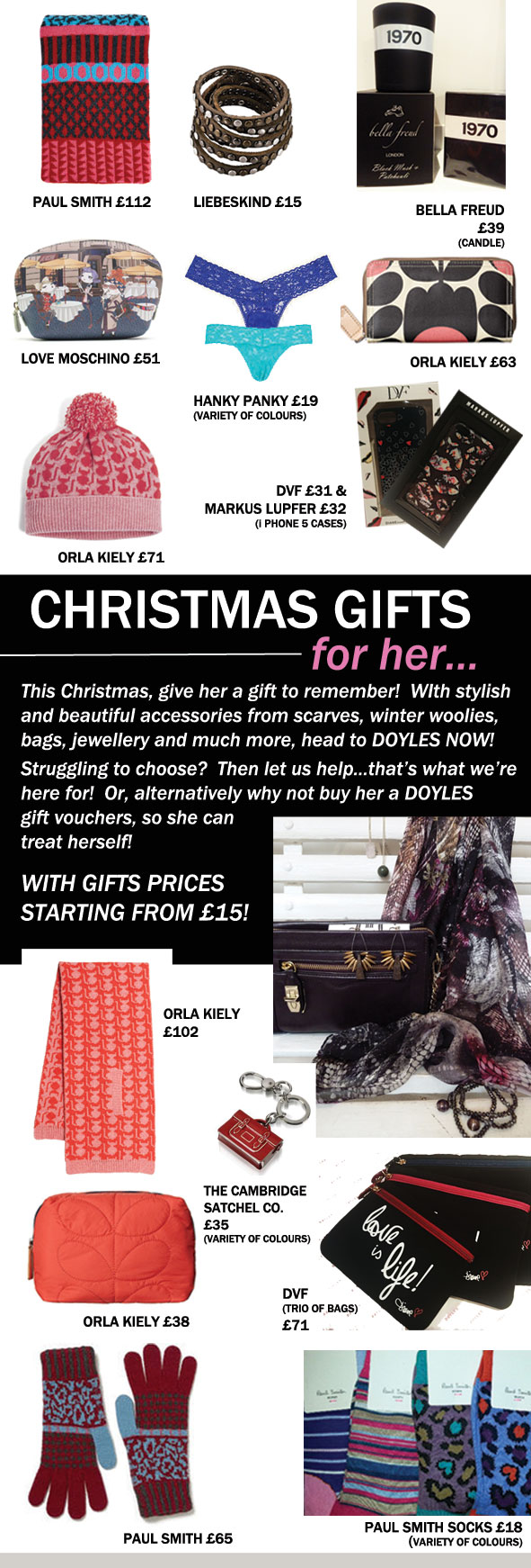 Your Perfect Christmas Gifts Doyles Fashion